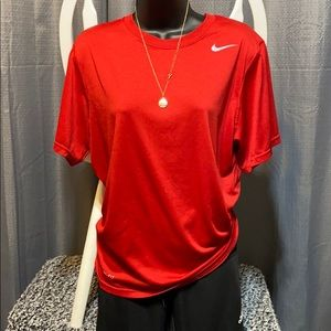 Red men's dry fit size small Nike top